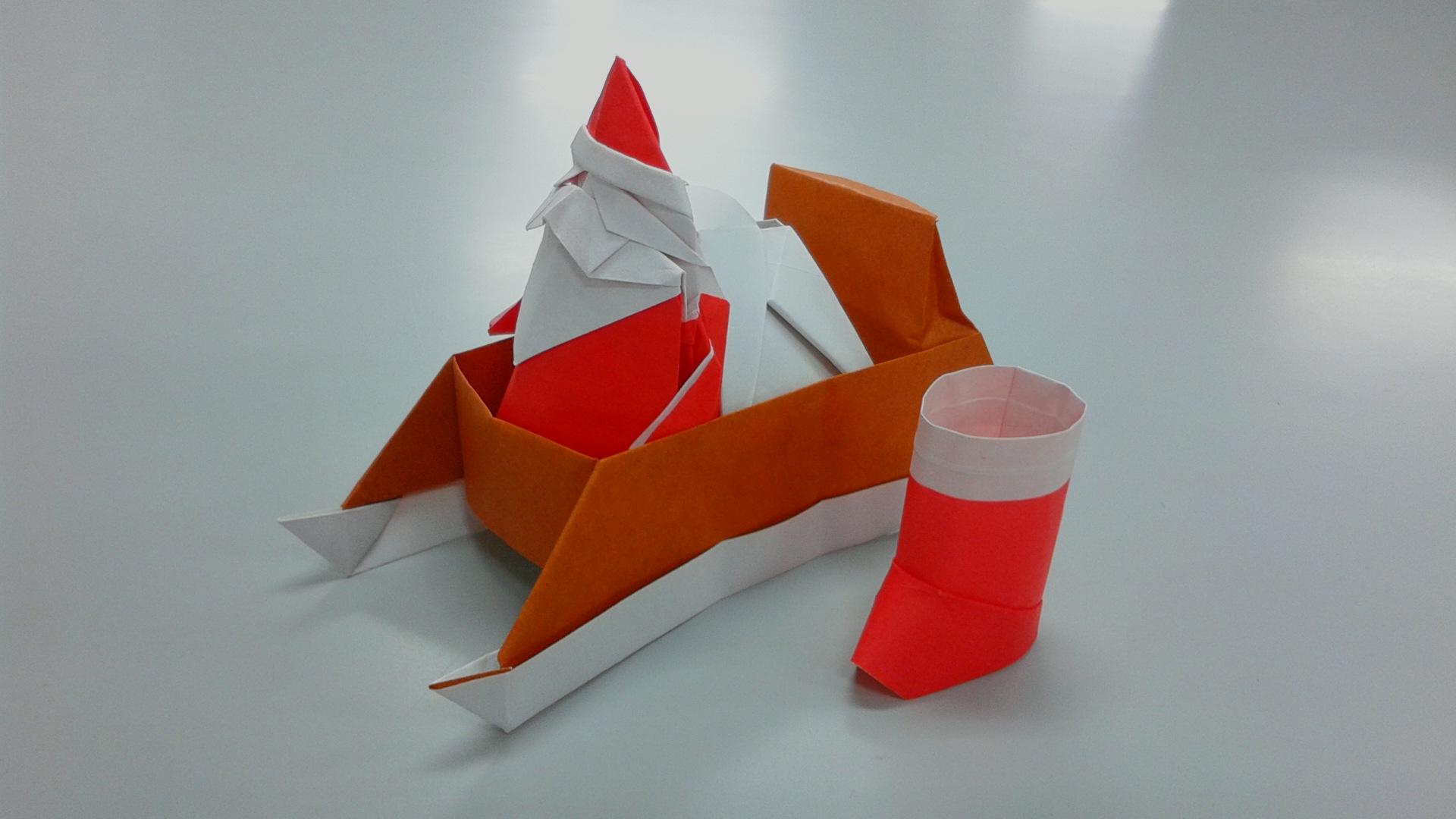 「サンタクロース(折り紙)」画像