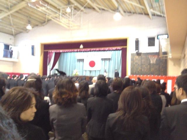 幕張中学校の卒業に行ってきました。画像